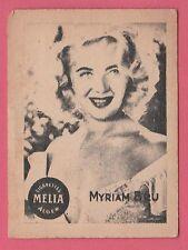 Cigarettes Melia Algeria Rare 1950s Film Star Tobacco Card - Myriam Bru