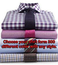 Custom Made To Measure Tailored Men's Bespoke Formal Business Dress Shirt