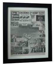 PINK FLOYD+Hyde Park Concert+MEGA RARE ORIGINAL 1970 NME+FRAMED+FAST GLOBAL SHIP