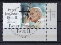 BRD 2005 gestempelt ESST MiNr. 2460  Tod von Papst Johannes Paul II.