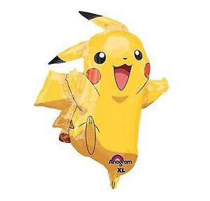 "31"" Pokemon Pikachu & Friends Foil Balloon Birthday Party Decoration Supplies"