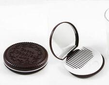 Oreo galletas de estilo espejo compacto con Peine Lindo Regalo * Nuevo * Navidad Stocking Relleno