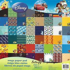 DISNEY MEGA 150 Sheet Paper Pad 12X12 Scrapbooking Paper Pad SANDYLION New