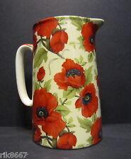 Heron Cross Pottery Poppy Chintz English 2 Pint Milk Jug