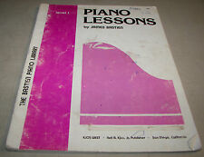 Piano Lessons Level 1 Sheet Music Songbook James Bastien Piano Library 1976