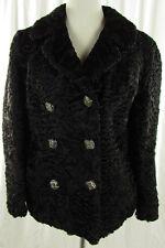 Swakara fourrure Blazer taille 38 noir veste JACKET CHAQUETA veste