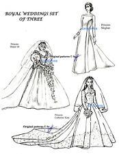 TYLER 3x Patterns Set DIANA &  MEGAN &  KATE WEDDING Ceremonies  Dresses