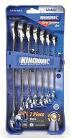 KINCROME 7 PIECE SINGLE WAY RATCHET COMBINATION SPANNER SET METRIC k3011