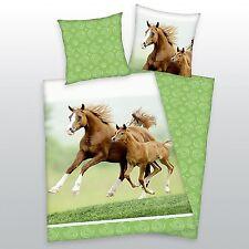 Herding Bettwäsche Pferd mit Fohlen 135 x 200 cm 100% Baumwolle