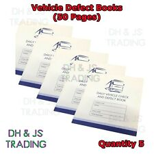 5x 50 Page Driver Defect Book Daily Duplicate Defect Checkbook VOSA Approved