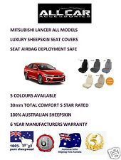 Sheepskin Car Seatcovers Mitsubishi Lancer , Seat Airbag Safe, 5 Colours.30mm TC