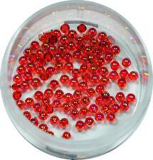 Halbperlen 1.2mm  ca. 50 Stk. Pearl Glitzer Pearl Nail Art Rot #00572-06