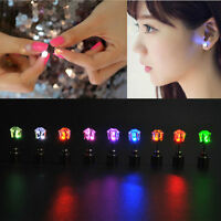 1 Pair Fashion Dance Party Accessories Light Up LED Bling Ear Studs Earrings Bu