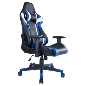 Computer PC Gaming Chair Office Adjustable Chair Blue Chair Modern Chair