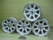 FORD ESCORT CAPRI CORTINA 8X15 DEEP DISH ALLOY WHEEL SET JBW MINILIGHT STYLE,