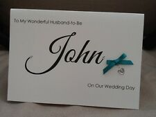 Handmade Personalised Large Husband to Be / Wife to Be Wedding Day Card