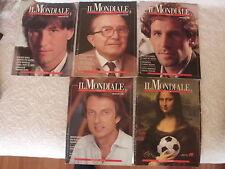 MONDIALI CALCIO ITALIA '90 5 RIVISTE SPECIALI COPPA MONDO BARESI ZENGA RIVERA ..