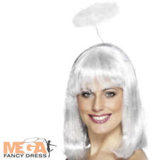 White Feather Angel Headband Halo Adult Ladies Fancy Dress Costume Accessory