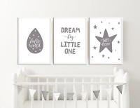 Grey Nursery Prints / Baby Room Decor / Pictures for Childrens Bedroom