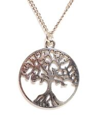 """TREE OF LIFE_Pendant on 18"""" Chain Necklace_Buddhist Pagan Earth Nature Leaf_84N"""
