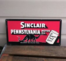 Sinclair Dino oil Metal Sign dealer gas pump Garage Shop Vintage Look 6x12 50105