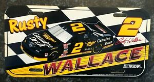 RUSTY WALLACE #2 NASCAR DRIVERS PENSKE RACING COLLECTORS LICENSE PLATE NEW