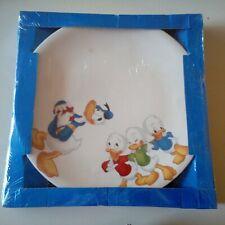 Piatto Piano Ceramica DeAgostini Disney in Tavola Paperino e Paperina Cm.25,7