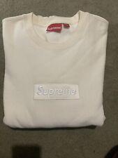 Supreme Box Logo Crewneck Sweatshirt Natural Size Large Fw18