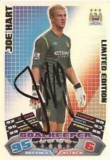 JOE HART SIGNED MAN CITY 2011/2012 LIMITED EDITION MATCH ATTAX CARD+COA