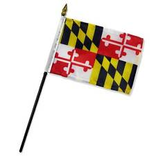 "Wholesale Lot of 12 State of Maryland 4""x6"" Desk Table Stick Flag"