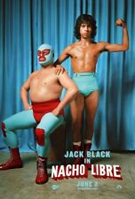 NACHO LIBRE MOVIE POSTER 2 Sided ORIGINAL DUO 27x40 JACK BLACK HECTOR JIMENEZ
