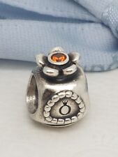 Authentic Pandora Retired Perfume Bottle Charm Orange CZ 790427OCZ AS NEW
