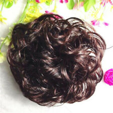 Womens Wavy Curly Pony Tail Hair Bun Clip in Scrunchie Hair Extension Hairpiece