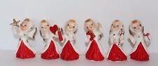 Set of Six Vintage Angel Figurines in Original Box Japan