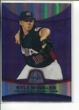 2010 Bowman Platinum Purple Refractor Kyle Winkler PP49 Team USA