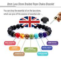 7 Chakra Bracelet Crystal Stones Healing Beads Reiki Buddha Mala Anxiety Jewelry