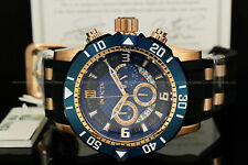 NEW Invicta JT Scuba Pro Diver III LE Chrno 18K Rose Gold Plated Blue Dial Watch