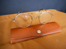 ANTIQUE Gold wire Rimmed Eyeglasses Spectacles 30's or 40's ? Wisconsin Box