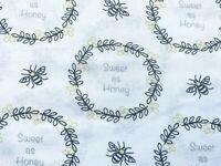 Bee Fabric, Sweet As Honey Fabric, Cotton Fabric, Bumble Bee Fabric, Honey Bee