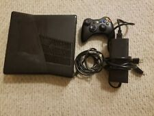 Xbox 360 S Slim Console 250GB HDD w/ Controller And Cords Tested Black