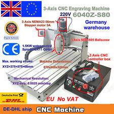 [EU Stock] 3 Axis 6040Z-S80 1500W CNC Router Engraver Engraving Milling Machine
