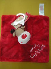 TESCO MERRY CHRISTMAS RUDOLPH COMFORTER SOFT TOY