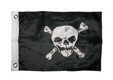 """12x18 12""""x18"""" Jolly Roger Pirate Skull and Bones Boat Car Motorcycle Flag"""
