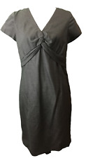 NEW Boden Wool Blend Front Knot Shift Dress Size US 8 *