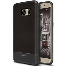 Galaxy S7 Edge Case, OBLIQ Flex Pro Espresso Premium PU Leather Slim Fit (B18)