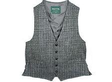Tweed Vest Mens Fullback Grey Plaid Made in Ireland XL