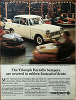 Triumph Herald Bumpers are Covered in Rubber Instead of Dents Vintage Ad 1965