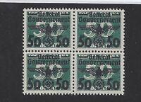 MNH WWII emblem Block / Poland Occupation / 50 Gr 1940  / MNH Block w/ holder