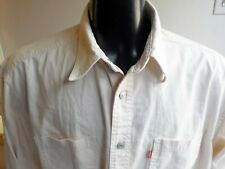 Levi's Denim Shirts Size L Large Ivory Long Sleeve Button Front  Metal Buttons