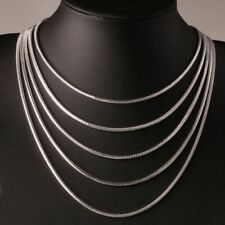 WHOLESALE JobLot 50x High Q SILVER SNAKE CHAIN NECKLACE 18inch - 46cm 2mm